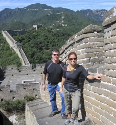 China wall with Alison