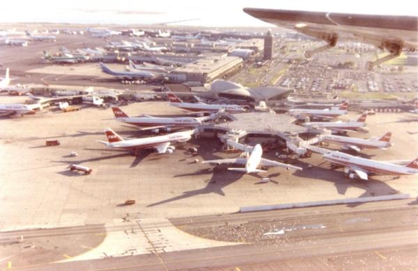 TWA int'l terminal from the air