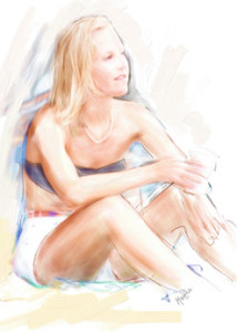 My photo of Susanne repainted by Maurice Azurdia
