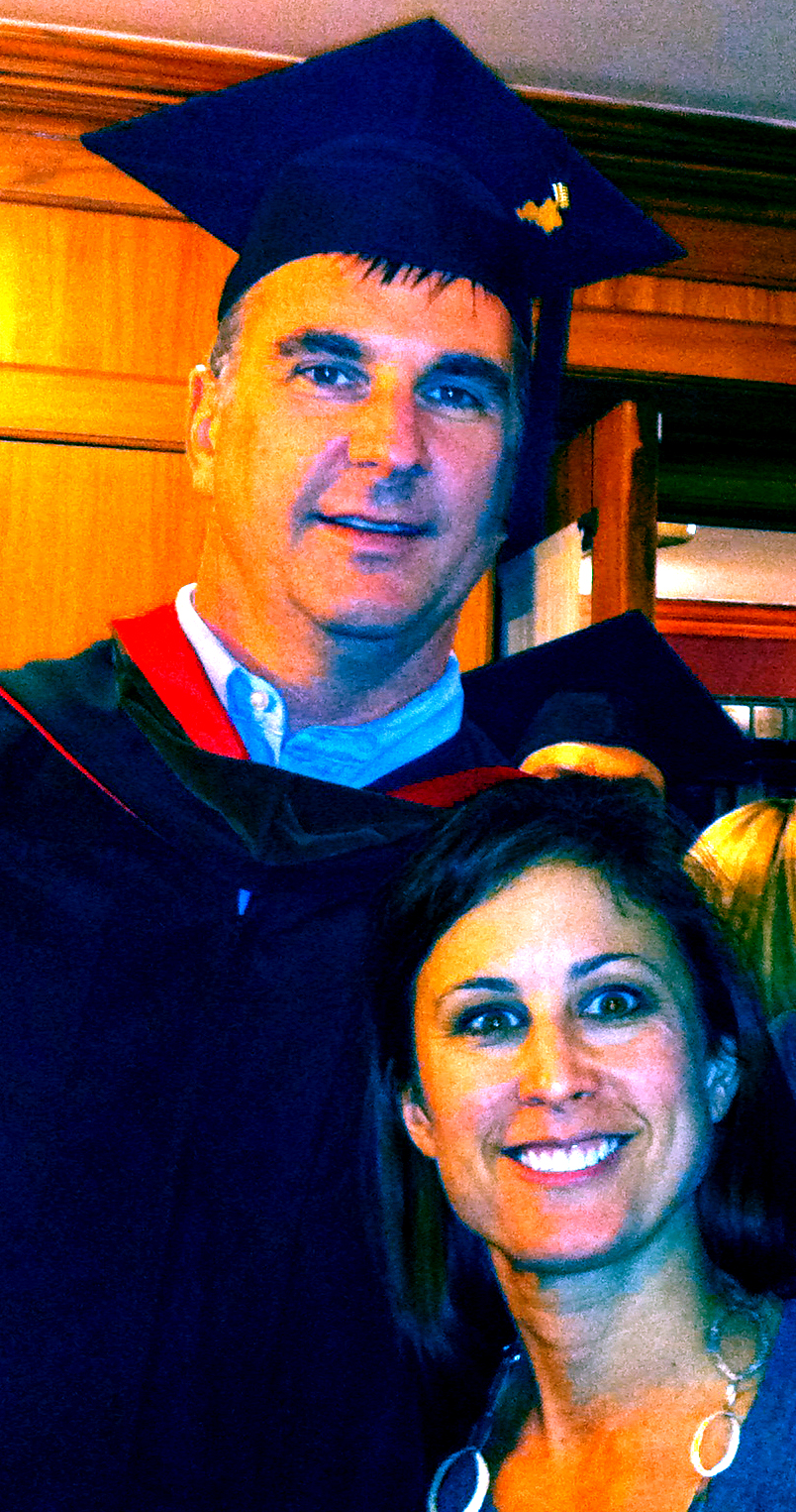 MLB and Alison - my MFA graduation 2012