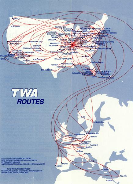 TWA routes
