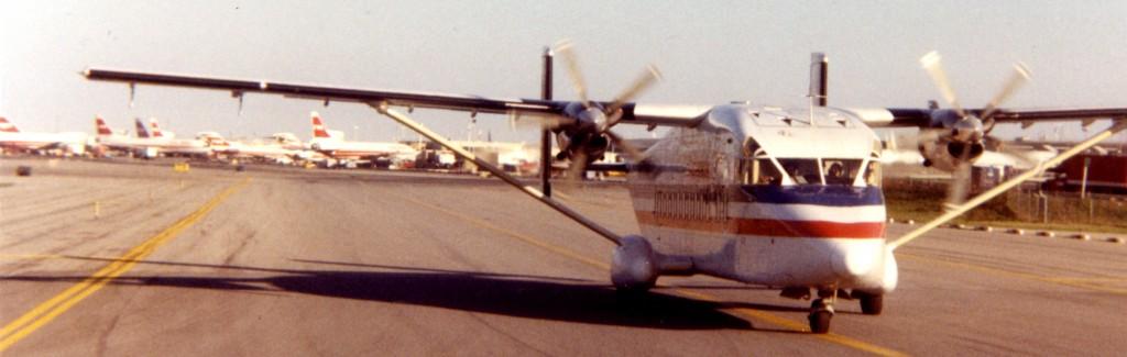 Taxiing a Shorts 330 by TWA at JFK