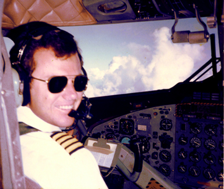 Captain and Check Airman Leo B Wood