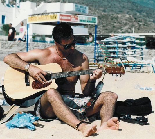 MLB - guitar on beach