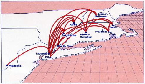 Command Airways - Northeast route system