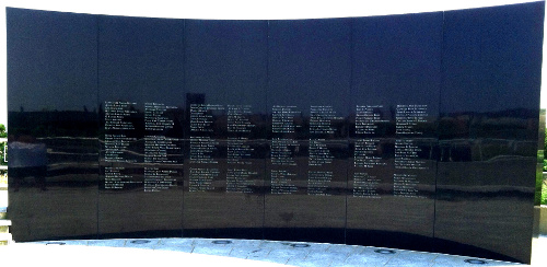 TWA 800 Name Wall