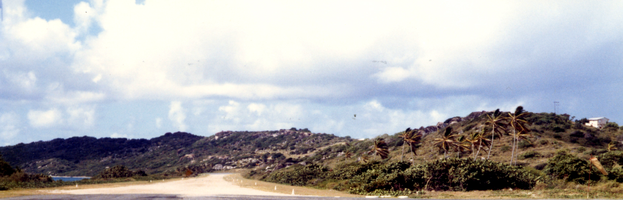 Virgin Gorda's Crushed-Shell Runway
