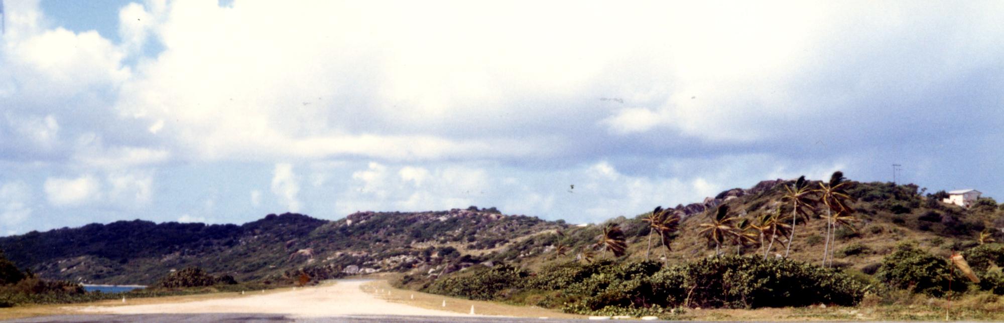 Virgin Gorda's Crushed-Shell Runway