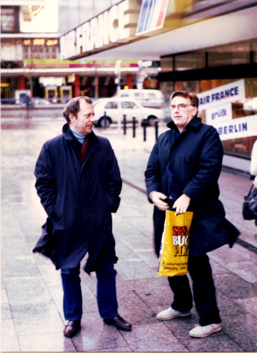 Captains Ken Cook and Gid Miller in West Berlin 1988