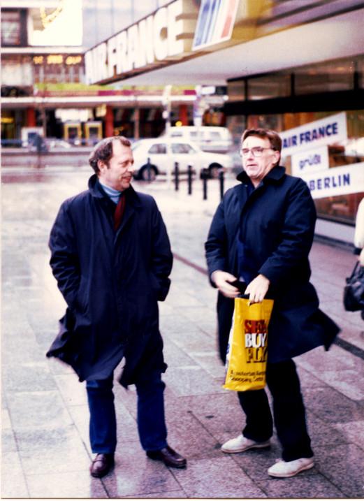 Captains Ken Cook and Gid Miller in West Berlin 1988