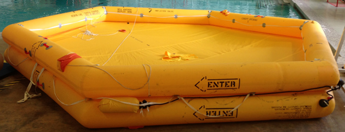 Emergency yellow life raft