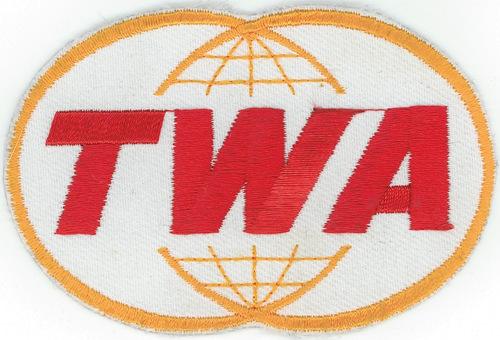 TWA Twin Globe Patch