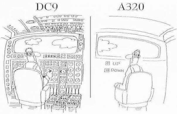 DC9-A320 Transition Cartoon